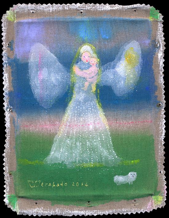 草原の聖母子