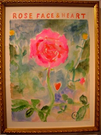 展覧会の薔薇の絵