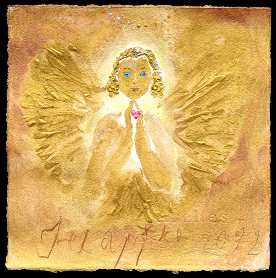 GOLDEN PRAYER HEART PEARL PINK
